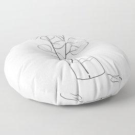 Eucalyptus Branch in a Vase Floor Pillow