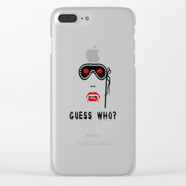 Halloween Guess Who Vampire Beauty Clear iPhone Case