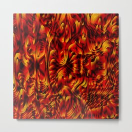 Metallic spray on marble dust with volcanic red tints. Metal Print