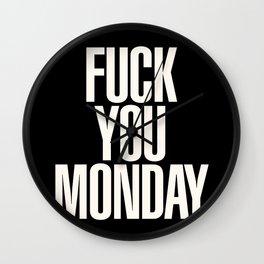 Monday Wall Clock
