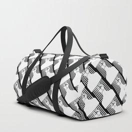I pick my afro - side part (black) Duffle Bag