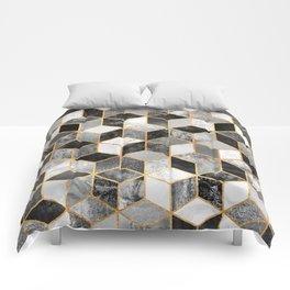 Black & White Cubes Comforters