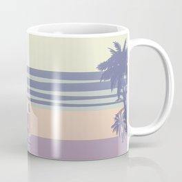 Surfer Graphic Beach Palm-Tree Camper-Van II Coffee Mug