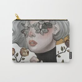 Butterflies and Roses Carry-All Pouch