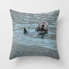 Sea Otter Fellow Throw Pillow