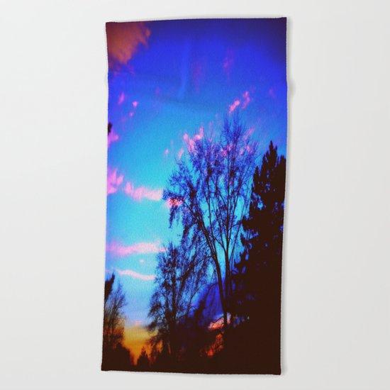 Colorful Sky (vintage) Beach Towel