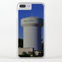 Maumee Water Tower III Clear iPhone Case