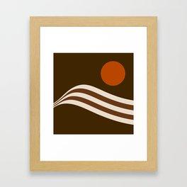 Swell - Cocoa Stripes Framed Art Print