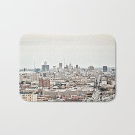 Downtown Detroit Skyline View from New Center Bath Mat