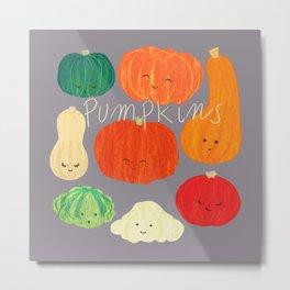 Pumpkin time Metal Print