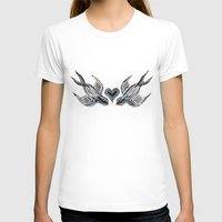 swallow T-shirts featuring Swallow love by Isobel Woodcock Illustration