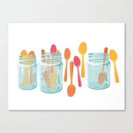 Party Spoons for Summer Canvas Print