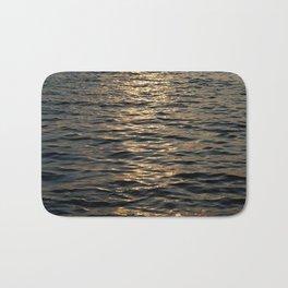 Surface of sea in twilight Bath Mat