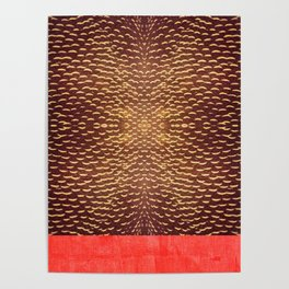 brown and orange pattern Poster