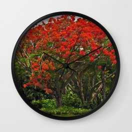Royal Poinciana Tree Wall Clock
