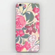 Cream Floral iPhone & iPod Skin