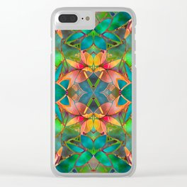 Floral Fractal Art G23 Clear iPhone Case