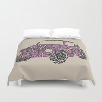 beetle Duvet Covers featuring Beetle  by Victoria-Anne