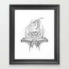 Grasping Straws Framed Art Print