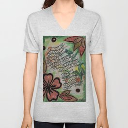 Do not be obsessed with sadness Unisex V-Neck
