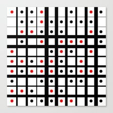 Dots in a grid Canvas Print