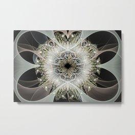 White Flower Garden Metal Print