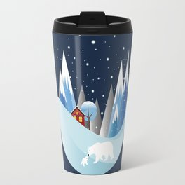 Snowing Bubble Travel Mug