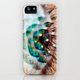 Green Eyes Hypnotize iPhone Case
