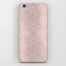 Floral Lace // Pink Semi-Circles iPhone & iPod Skin
