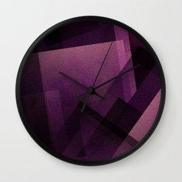 Modular Magenta - Digital Geometric Texture Wall Clock