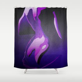 Nude In Lilac and PurplePurple Young Beautiful Nude Woman With Towel Shower Curtain