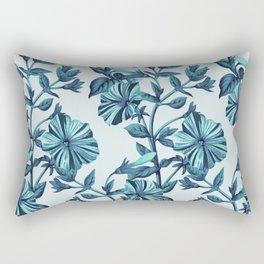 Morning Glories in Blue Rectangular Pillow