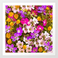 Colorful meadow flowers #Society6 #buyart Art Print