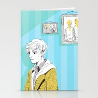 kieren walker Stationery Cards featuring In The Flesh - Kieren  by Cy-lindric