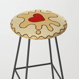 Jammy Dodger British Biscuit Bar Stool