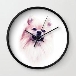 The Smiling Pomeranian Wall Clock