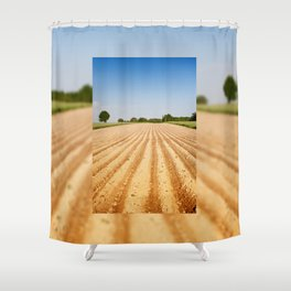 Ploughed agriculture field empty Shower Curtain