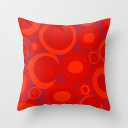 Bubbleroom in red Throw Pillow