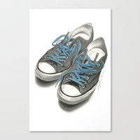 converse Canvas Prints featuring Converse by Anthony Billings