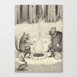 'Camp Fire' Canvas Print