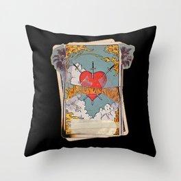 Halsey Heart Tarot card Throw Pillow