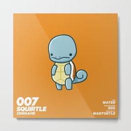 007 Squirtle Metal Print