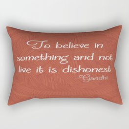 Ghandi Quote Rectangular Pillow