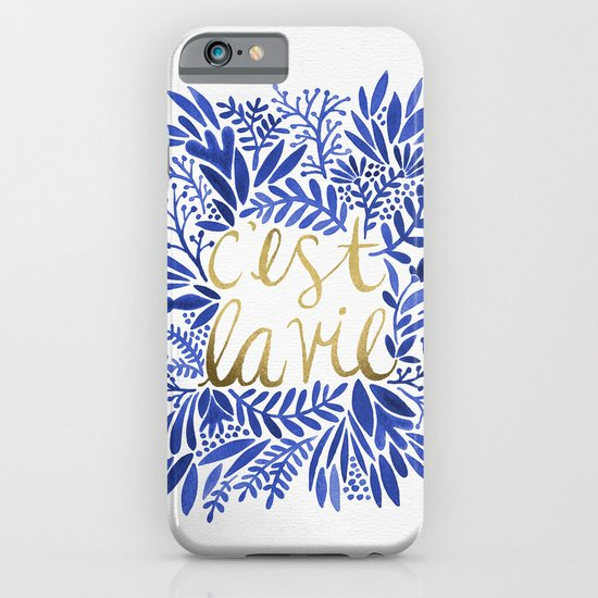 That's Life – Gold & Blue iPhone & iPod Case