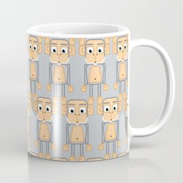 Super cute animals - Cheeky Grey Silver Monkey Coffee Mug