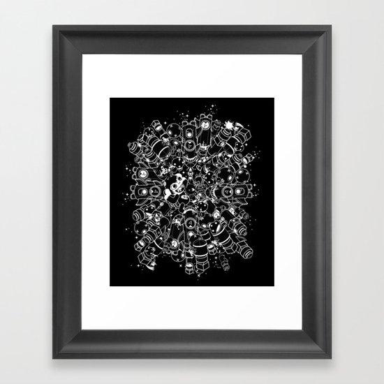 For Good For Evil - White on Black Framed Art Print