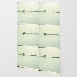 Retro white streetlight Wallpaper