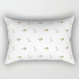 Blue Jay - White Rectangular Pillow