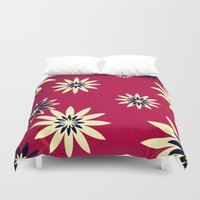 daisies Duvet Covers featuring Daisies by Armin