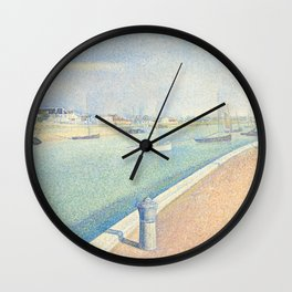 The Channel of Gravelines, Georges Seurat Wall Clock